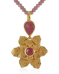 Emma Chapman Jewels Violetta Ruby Pendant - Red