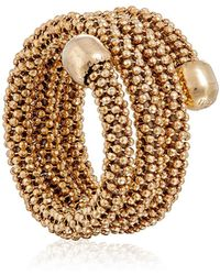 Durrah Jewelry - Gold Spring Ring - Lyst