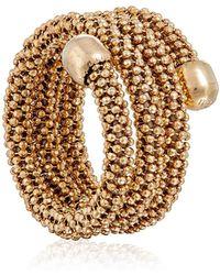 Durrah Jewelry Gold Spring Ring - Metallic