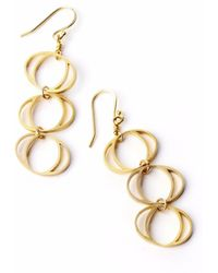 Nakibirango-London - Gold Daphne Earrings - Lyst