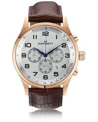 Kennett Watches - Savro Rose Gold Dark Brown Modern - Lyst