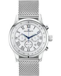 Kennett Watches - Savro Silver White Milanese - Lyst