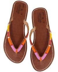 Aspiga Naisha Soft Padded Sole Leather Sandals | Pink/orange