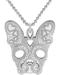 CarterGore Small Silver French Bulldog Pendant Necklace - Metallic