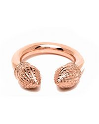 Durrah Jewelry Rose Cylinder Ring - Multicolor