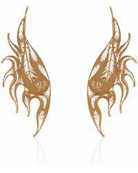 Nooneh London - Atlantis Version 2 Statement Earrings Gold - Lyst