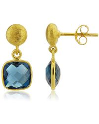Auree Iseo London Topaz & Gold Vermeil Earrings - Metallic