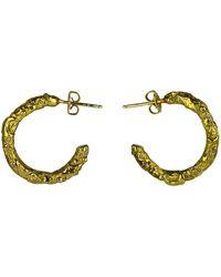 Annabelle Lucilla Jewellery Night's Sky Chunky Embellished Hoops - Metallic