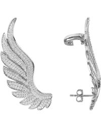 LÁTELITA London Gabriel Angel Wing Ear Climber Silver - Metallic