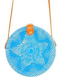 Soi 55 Lifestyle - Cantik Round Bali Bag Blue - Lyst