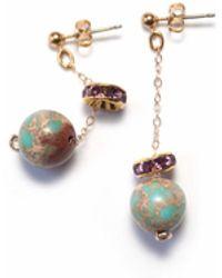 Amundsen Jewellery - Jasper Stone Earrings - Lyst