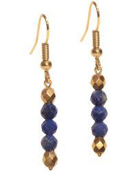 Shinar Jewels Lapis Lazuli Egyptian Dangle Earrings - Multicolour