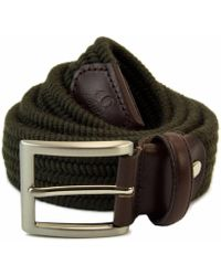 40 Colori Green Wool Elasticated Belt
