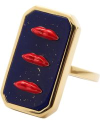 Eshvi Lapis Lip Ring - Multicolour