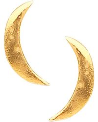 Ottoman Hands - Moon Stud Earrings - Lyst