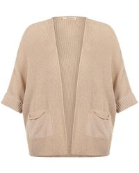 Nocturne Knit Batwing Sleeve Cardigan-beige - Natural