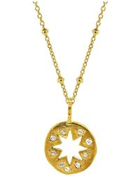Yvonne Henderson Jewellery Cutout Star Necklace With White Sapphires - Metallic