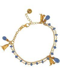 Yvonne Henderson Jewellery Bluebell & Iolite Charm Bracelet - Metallic