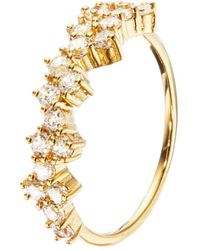 Lily & Roo Gold Diamond Style Cluster Ring - Metallic