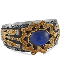 Emma Chapman Jewels Blue Sapphire Diamond Luella Ring