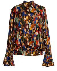 TOMCSANYI Metropolis Face Print Shirt - Multicolor