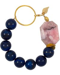 Magpie Rose - Peruvian Pink Opal & Lapis Lazuli Vermeil Bracelet - Lyst