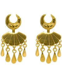 Annabelle Lucilla Jewellery - Moon & Sea Shell Water Droplet Ear Jackets - Lyst
