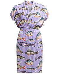 TOMCSANYI - Heviz Draped Short Dress - Lyst