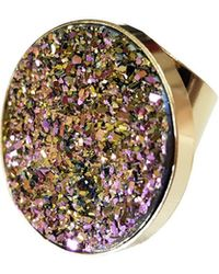 Tiana Jewel Candy Pop Rainbow Metallic Druzy Ring - Multicolor