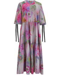 Klements Eidothea Dress In Woodstock Print - Purple