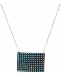Cosanuova - Rectangular Rose Turquoise Necklace - Lyst