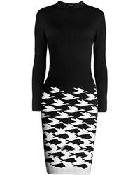 Rumour London - Sea & Sky Black Knitted Jacquard Dress - Lyst