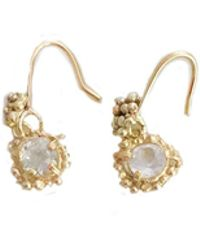 Lily Flo Jewellery - Kaia White Topaz Drop Earrings In Solid 9ct Gold - Lyst