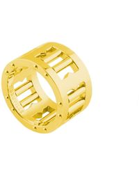 Tissuville Segra Ring Gold Matte Men - Metallic