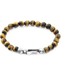 Anchor & Crew - Brown Tigers Eye Outrigger Silver & Stone Bracelet - Lyst