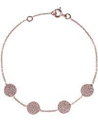 Latelita - Four Round Disc Bracelet Rosegold - Lyst