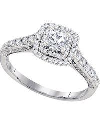 Cosanuova 3-stone Diamond Engagement Ring In 14k White Gold