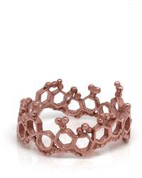Annabelle Lucilla Jewellery Apollo Ring Rose Gold - Multicolour