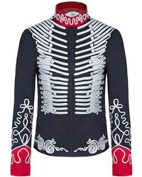 The Extreme Collection - Navy Blue Close Fitting Jacket Mariana - Lyst