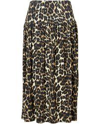 Baukjen Abigail Skirt In Leopard Print - Brown