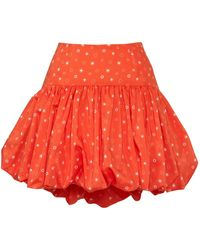 Siobhan Molloy Sienna Voluminous Puff-ball Mini Skirt - Red