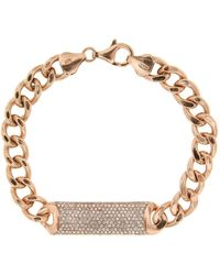 Cosanuova Sterling Silver Essential Id Bracelet In Rose Tone - Metallic