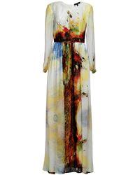 MATSOUR'I Karolina Silk Dress - Metallic
