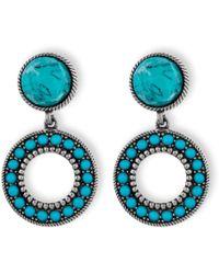 Platadepalo - American Indian Turquoise Earrings - Lyst