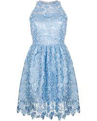 Ukulele Poppy Dress - Blue
