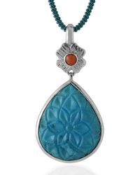 Emma Chapman Jewels - Aztec Coral Turquoise Pendant - Lyst