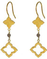 Yvonne Henderson Jewellery - Moroccan Style Clover Drop Earrings With Labradorite - Lyst
