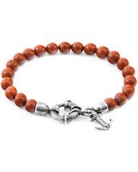 Anchor & Crew - Red Jasper Port Natural Stone Bracelet - Lyst