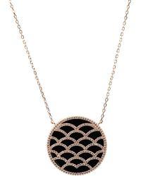 LÁTELITA London - Venus Rosegold Necklace Black Onyx - Lyst