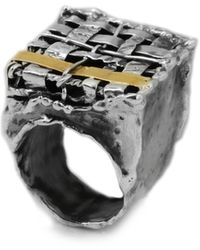 Katarina Cudic Fence Square Ring - Metallic